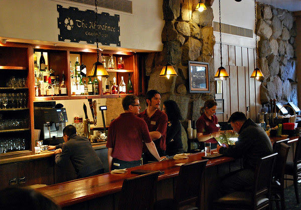 Some of the waitstaff in the Ahwahnee Bar.