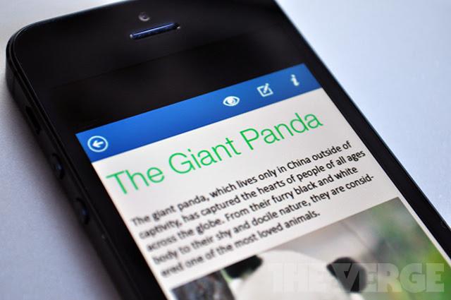 As imagens vazadas revelam como será a interface do Office para iOS e Android (Foto: Reprodução/The Verge)