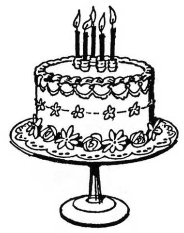 Birthday Clipart Black And White 61 Cliparts