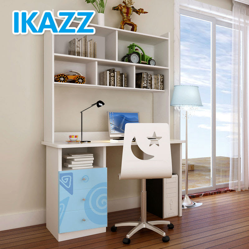 2014 IKAZZ white student bedroom study table with drawers, View ...
