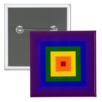 Rainbow Square 2 Inch Square Button