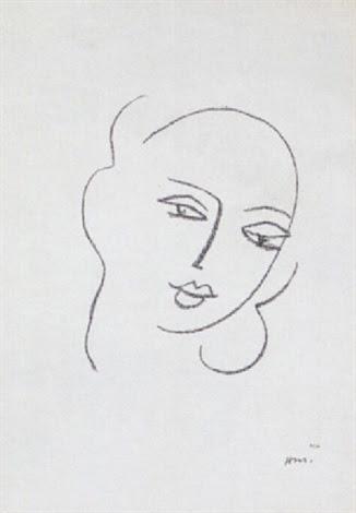 Étude pour la Vierge - Visage by Henri Matisse on artnet