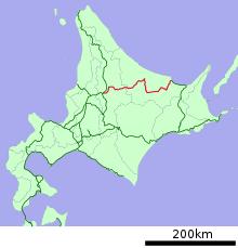 石北本線の路線図