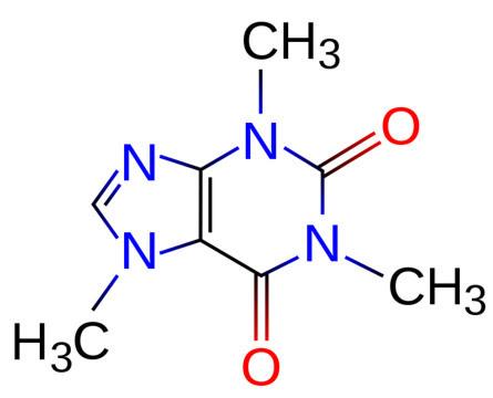 Fórmula química da cafeína