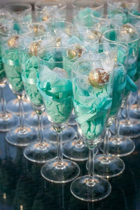 Classy party favors  lindt chocolates in champagne