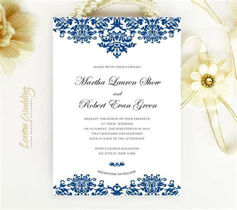Royal Blue Wedding Invitations   LemonWedding