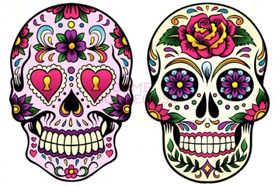 Dibujos De Calaveras A Color Imagui