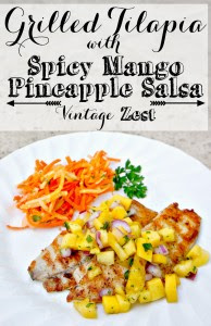 Grilled Tilapia with Spicy Mango Salsa