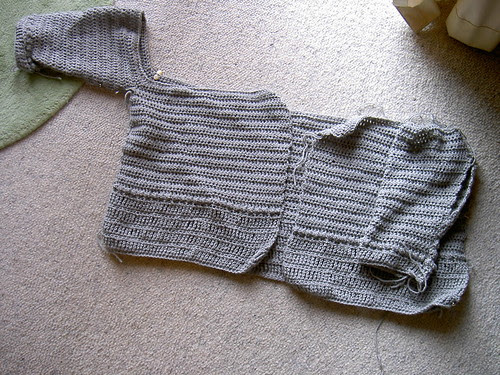 Cardigan - in progress
