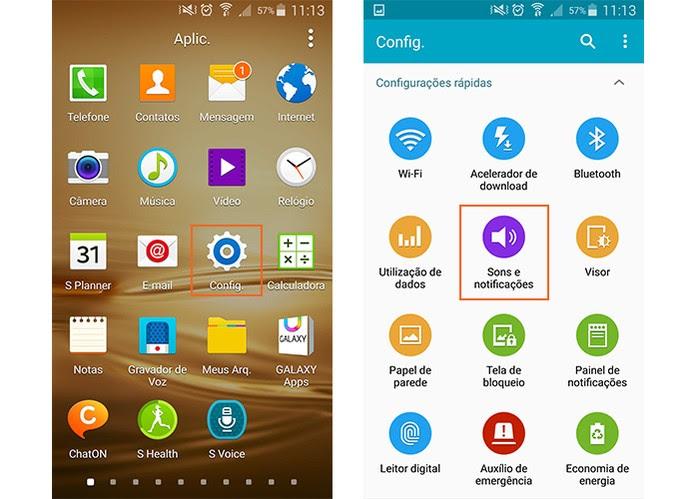 Acesse as configurações de sons no Android (Foto: Reprodução/Barbara Mannara)