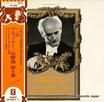 FURTWANGLER, WILHELM bruckner; symphony no.8 in c minor