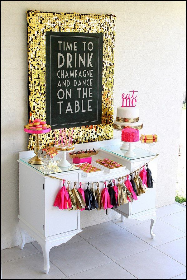Modern Mindy - Pink, Black, and Gold 40th Birthday Bash by Ruby May Designs