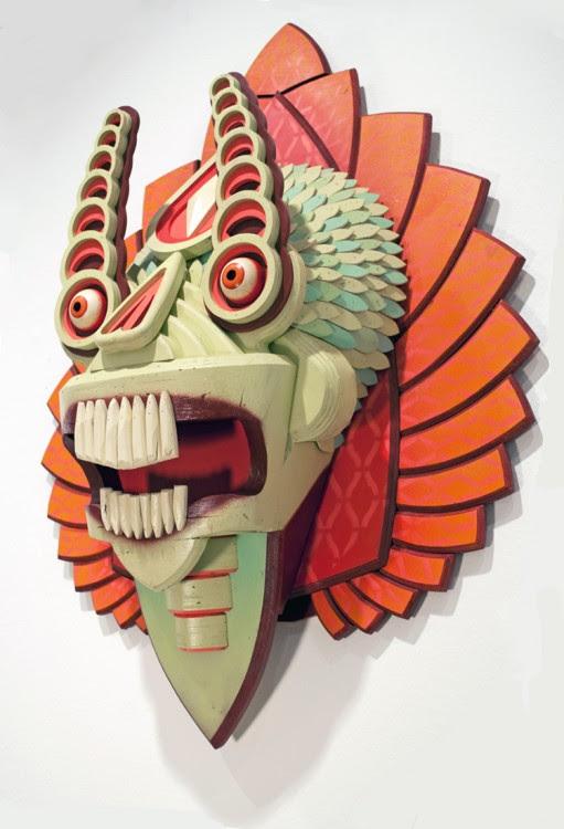 masque aj fossik 04 511x750 Les monstres en relief dAJ Fosik  art