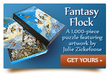 Fantasy Flock Puzzle. Click to Order