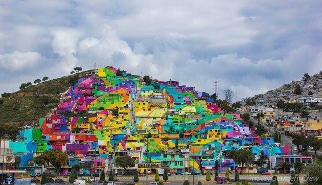 Hermoso Mural Arcoiris Conecta A Mas De 200 Casas En Barrio De