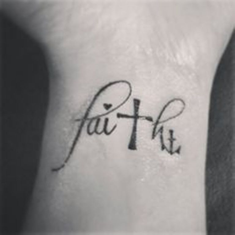 69 Adorable Faith Wrist Tattoos