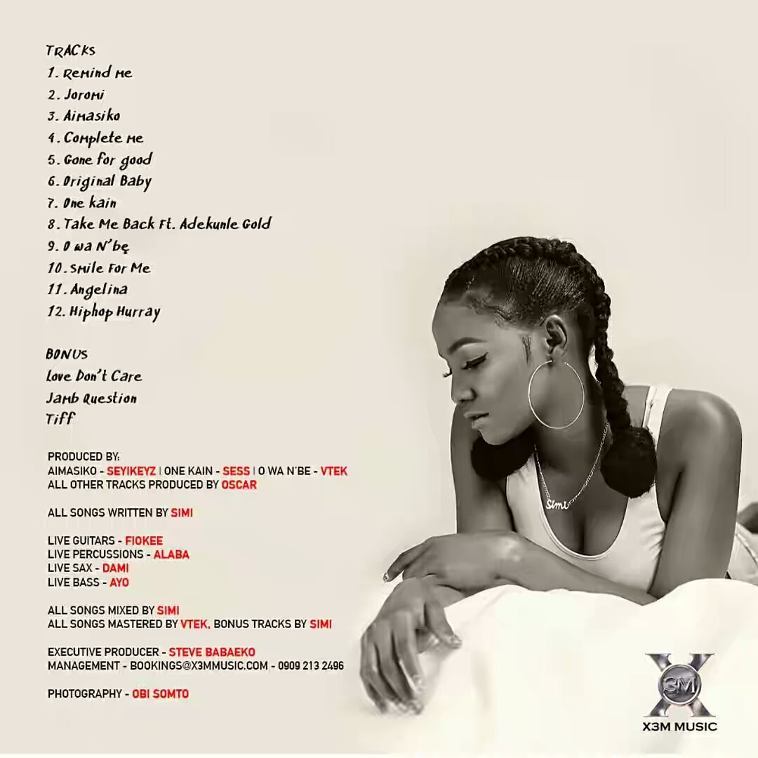"""[GIST] Simi Out With """"Simisola"""", Her Sophomore Album, 3 Years After Joining X3M Music"""