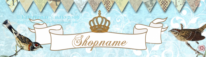Vintage Bird Banner for Dawanda Shops