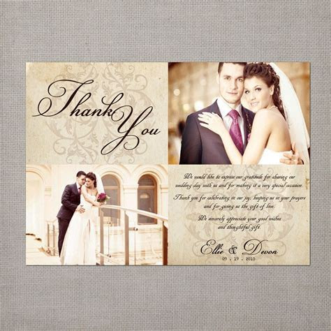 "Vintage Wedding Thank You Card   the ""Ellie"". $39.75, via"