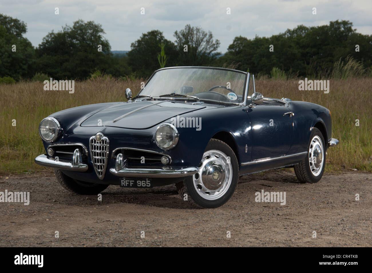 Alfa Romeo Giulietta Spider convertible Italian sports car Stock Photo, Royalty Free Image