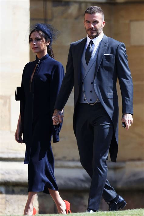 Victoria and David Beckham Arrive at the Royal Wedding