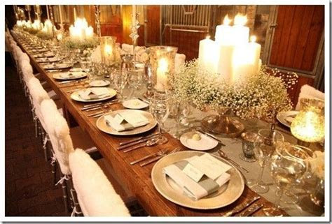 Like the Candles in the middle! long wedding table setting