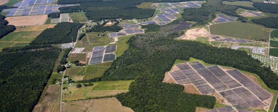 solar facility (farm) built by Community Energy Solar in Accomack County