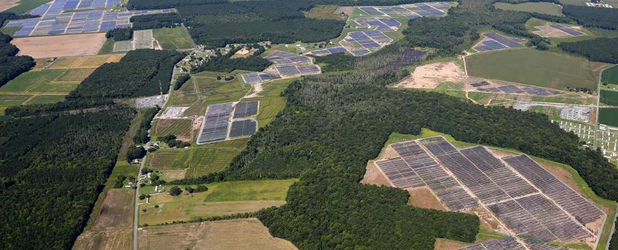solar facility (farm) built by Community Energy Solar in Accomack County