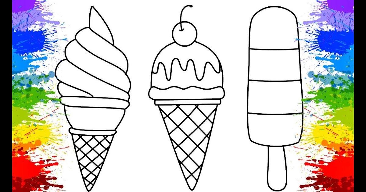 Desenhos De Sorvete Kawaii Para Colorir