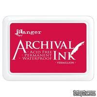 Архивные чернила Ranger - Archival Ink Pads - Vermillion - ScrapUA.com