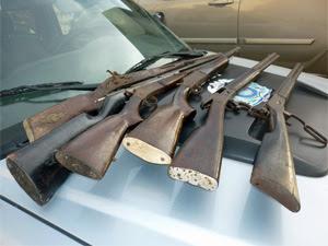 Armas apreendidas pelo Gati. (Foto: Divulgação / Polícia Militar)