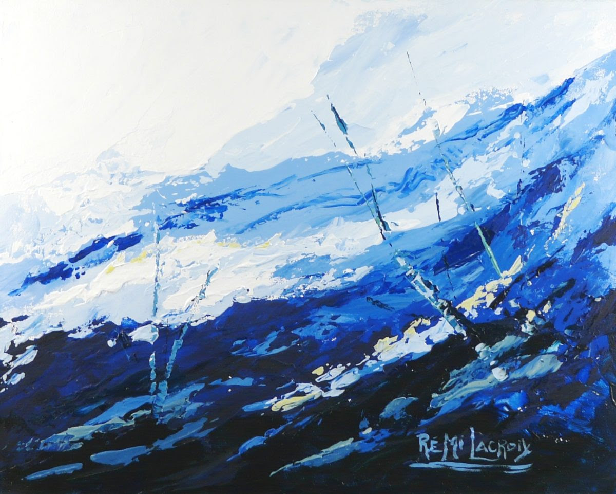 Terre d'hiver no 19 - 16x20 po - Acrylique sur toile (Disponible)