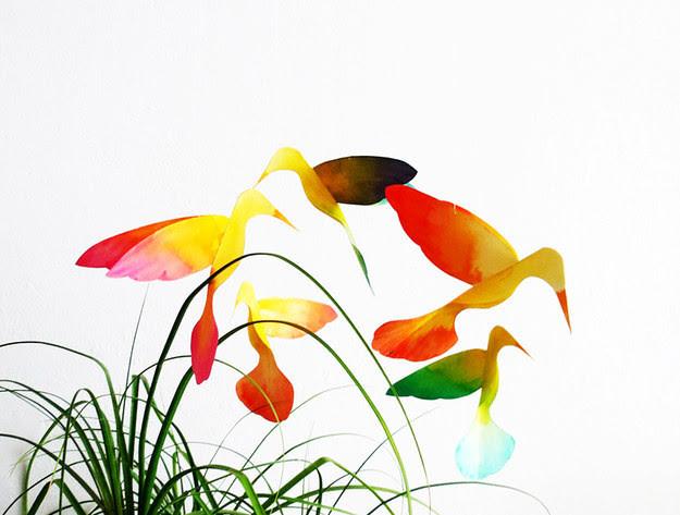 32. Декоративные колибри дети, поделки, своими руками, сделай сам, творчество