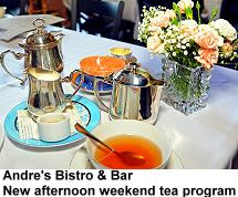 Andre's Bistro and Bar Afternoon weekend tea program