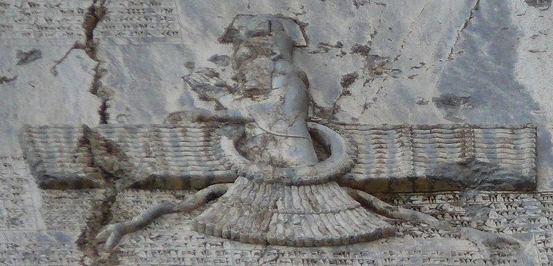 File:Faravahar at Behistun.jpg
