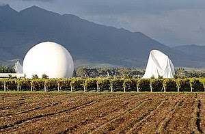 One of the domes collapsed at GCSB's Waihopai ...