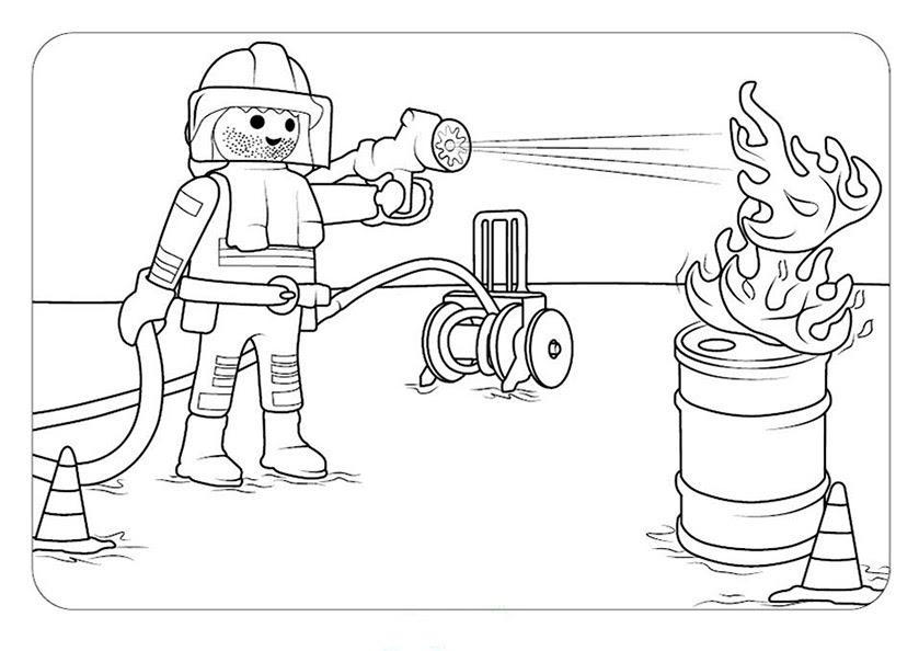 ausmalbilder feuerwehr playmobil  malvorlagen