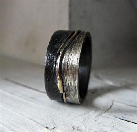 Size 10 Mens Wedding Band Mens Wedding Ring Silver Gold