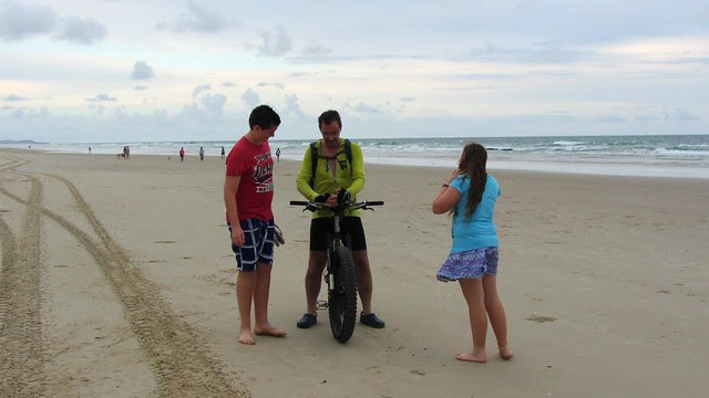Meeting our kids on the beach