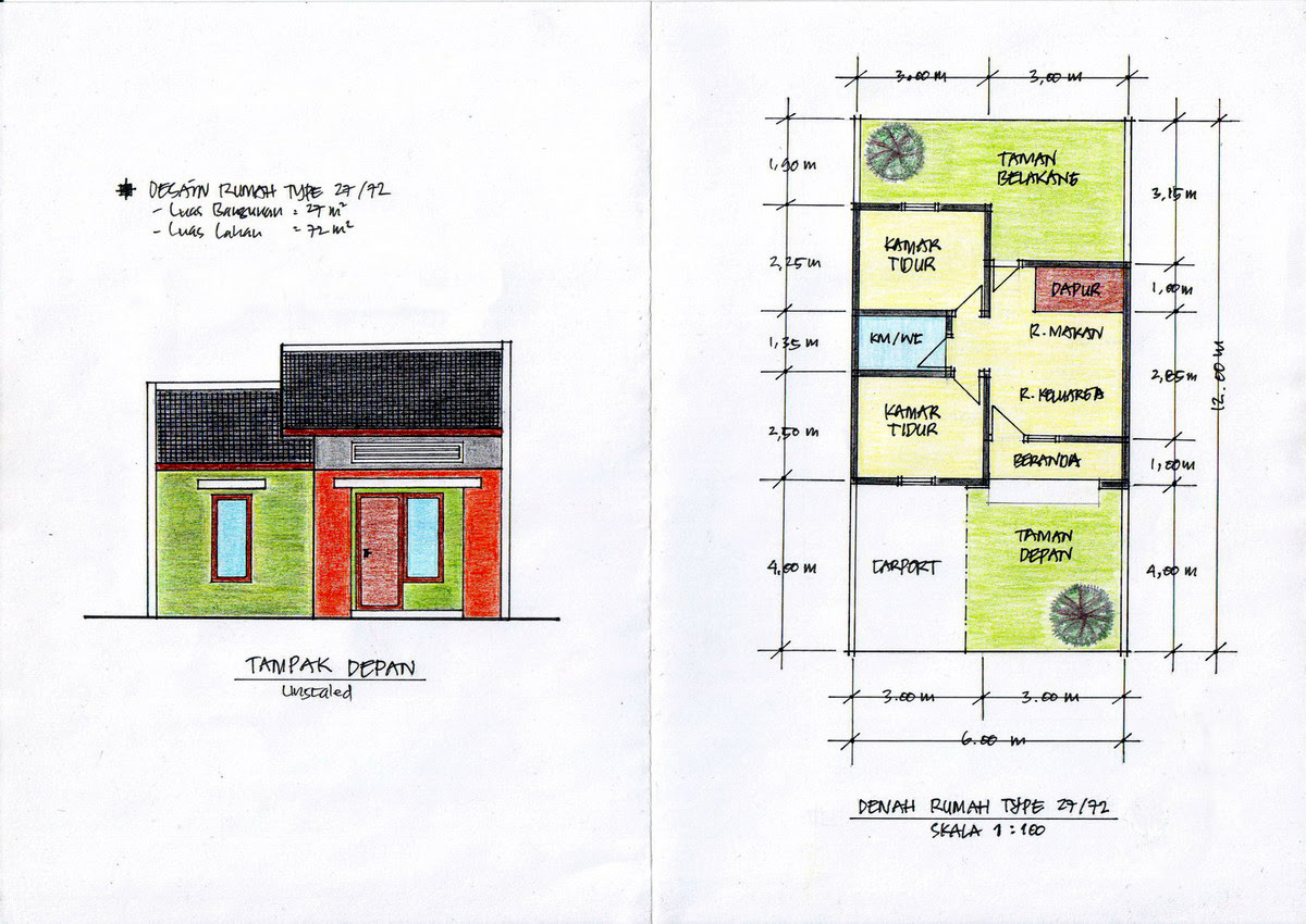 Contoh Denah Rumah / Layout - Arsitektur Rumah
