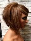 Coupe De Cheveux En Carré Plongeant