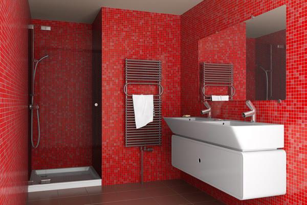 Red Bathroom Design Ideas | InteriorHolic.