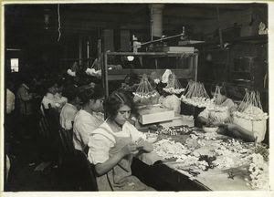Table in a flower factory Digital ID: 439952. New York Public Library
