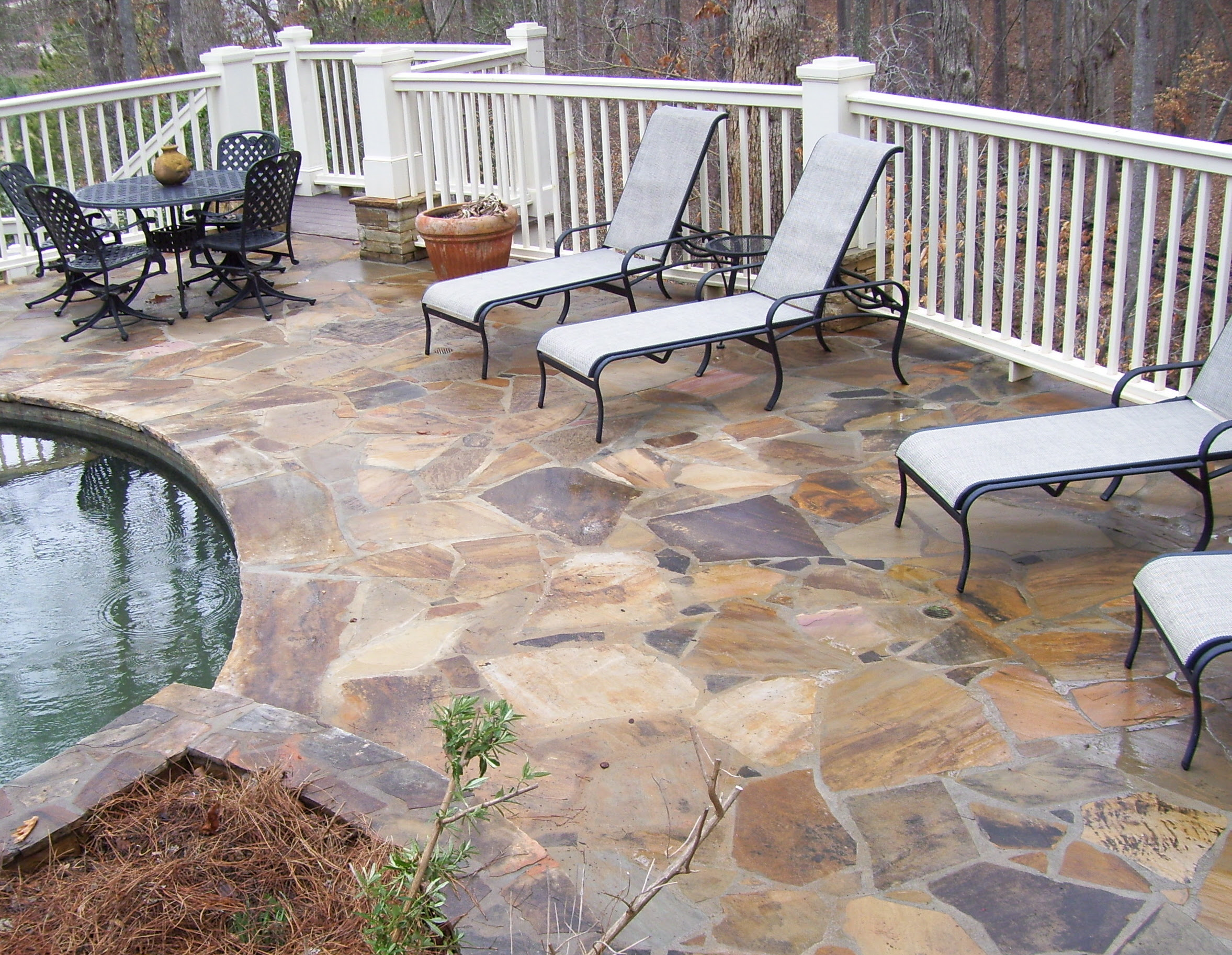 Pin Stone Deck Outdoor Furniture Fireplace Mirror Pool on Pinterest