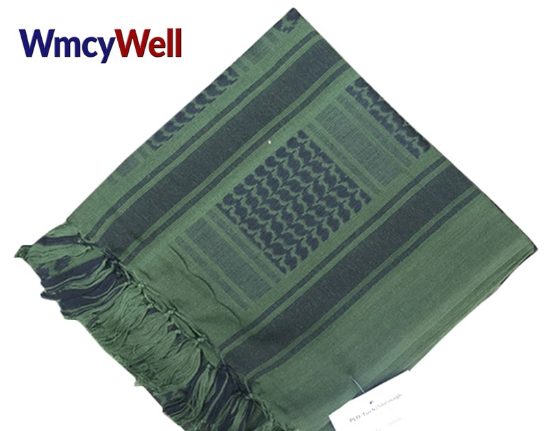 Buy WmcyWell Army Military Tactical Arab Shemagh KeffIyeh Cotton Shawl Scarves Camping Paintball Head Scarf Face Mesh Desert Wrap Cheap - buytbn