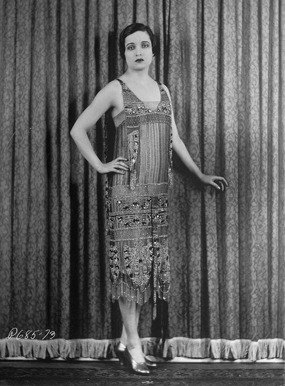 1920s style beaded evening dresses