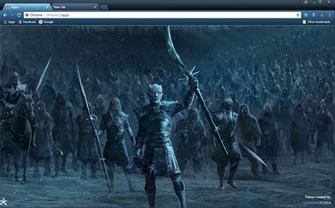 Game of Thrones White Walkers Chrome Theme   ChromePosta