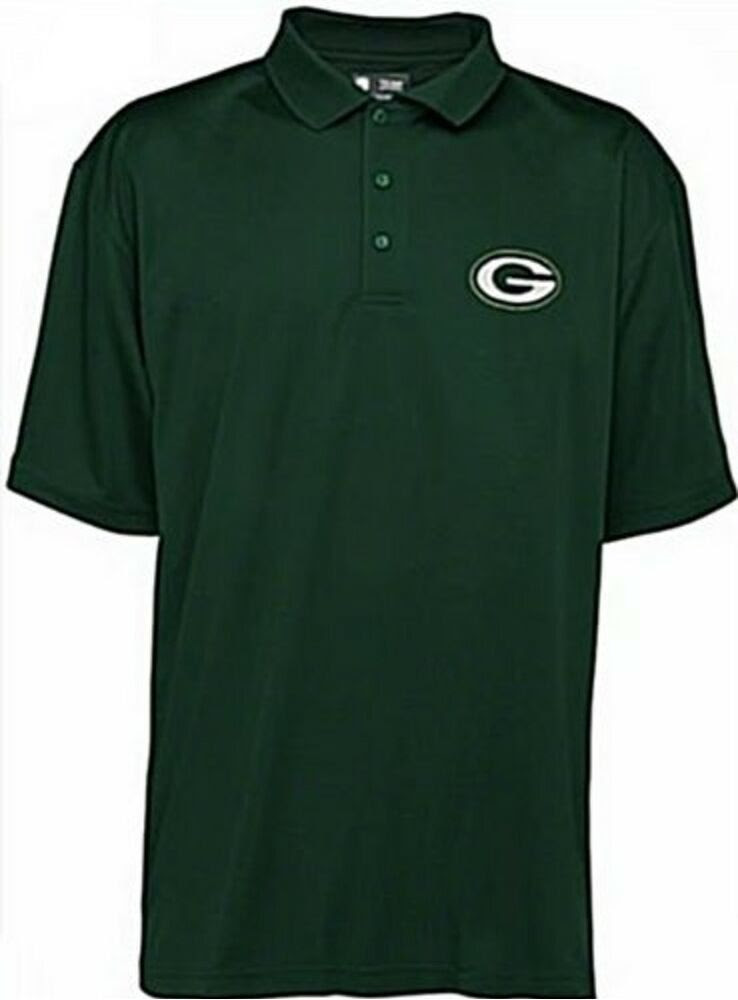 Green Bay Packers NFL Team Apparel Green Polo Golf Shirt All Sizes  eBay