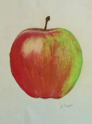 saatchi art sauce apple drawing  jessica casper
