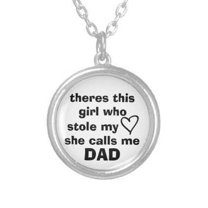 theres this girl who stole my heart she calls me D Custom Necklace